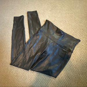 SPANX Medium faux leather black leggings